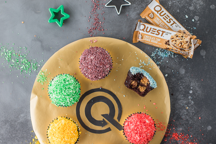 Protein Avengers, Assemble! These Infinity Stone Cookie Dough Cupcakes Will Eliminate Half the Bad Ingredients.