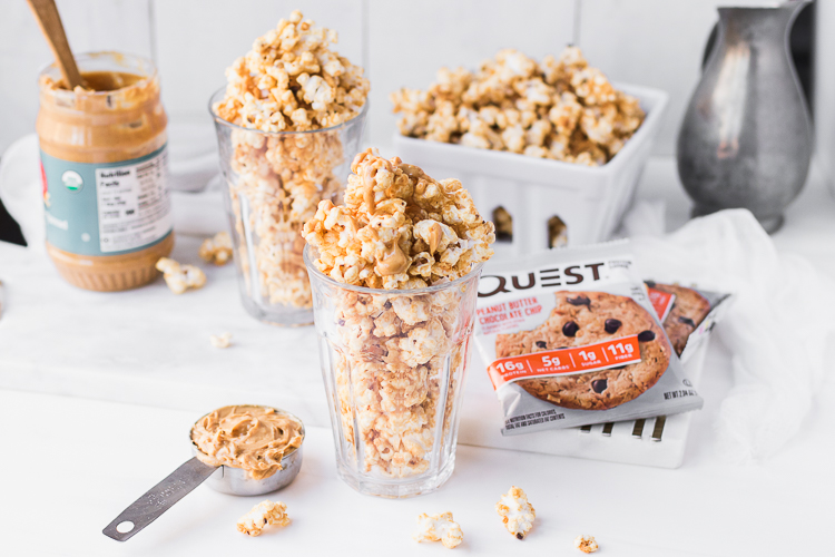 Sorry, We May Have Ruined Regular Old Popcorn Forever With Our Questified Peanut Butter Popcorn
