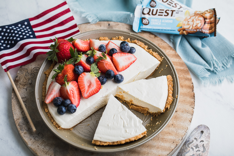 This 4th of July Cheesecake is a Questified Fireworks Display of Flavor