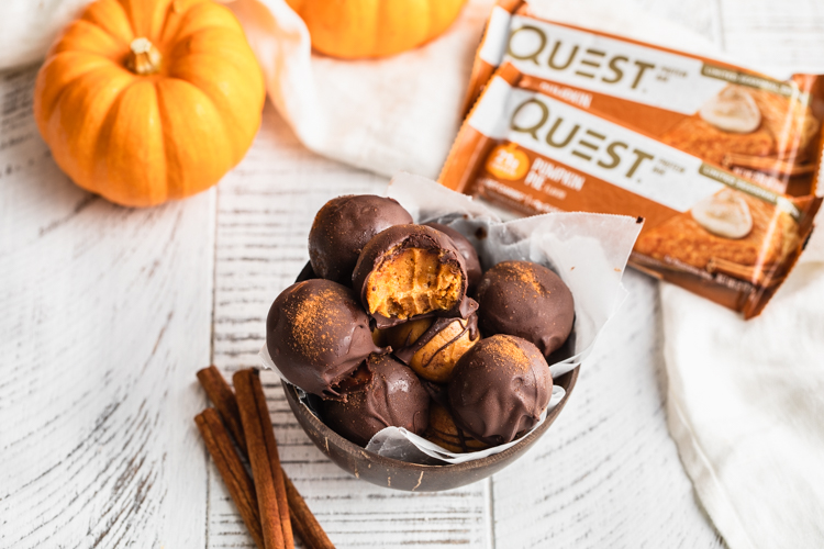 Profoundly Poppable Pumpkin Spice Truffle Perfection