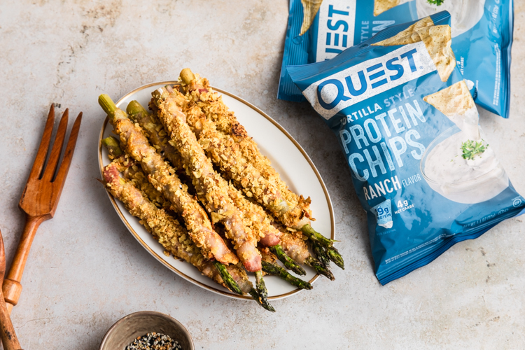 Put Your Protein Chips to Work for Our Bacon-Wrapped Asparagus Recipe