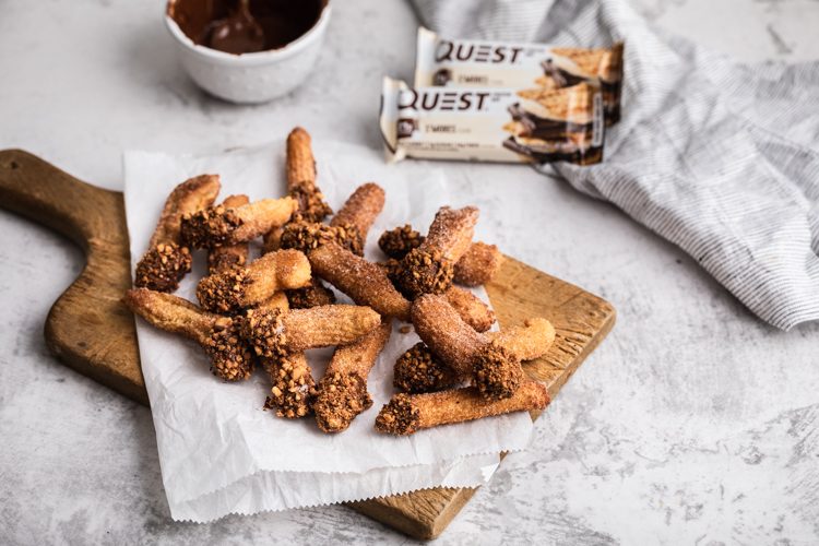 We Dare You to Not Double Dip These Dipped S'mores Churros