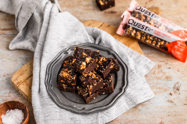 Make Your Snack Bar Into Dessert with These Peanut Crunch Brownies