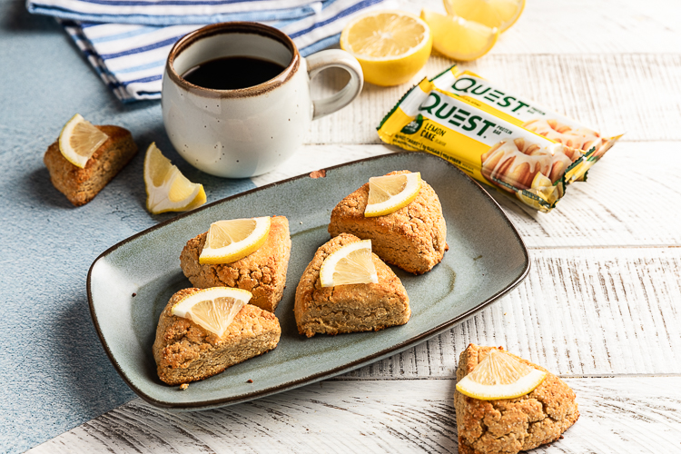 Bake the New Lemon Cake Quest Bar into These Delicious Lemon Scones
