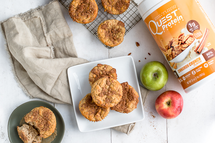 You'll Fall for These Protein Snickerdoodle Apple Muffins!