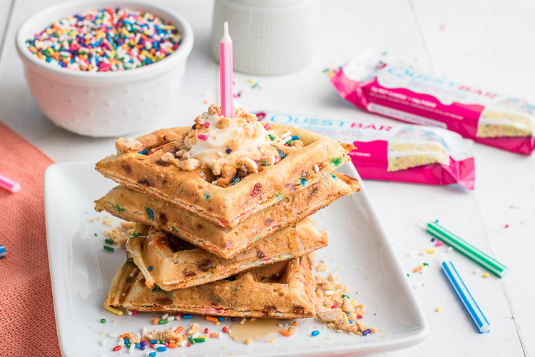 Dont Suffer From Cake Envy In 2019 Enjoy These Birthday Waffles Instead