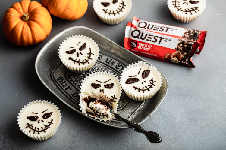 Enjoy the Bone-Tingling Good Taste of Our Halloween Skeleton Cheesecake Cups